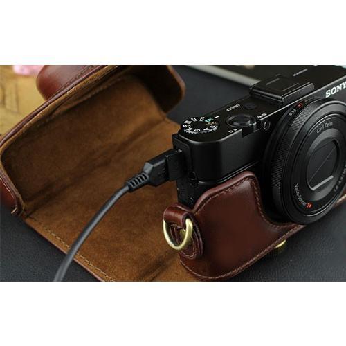 レザーカメラケース Sony RX100シリーズ専用 レザーケース M M2 M3 M4 M5 M6 用 レザージャケット お揃いカラーのストラップ付き|asianzakka|10