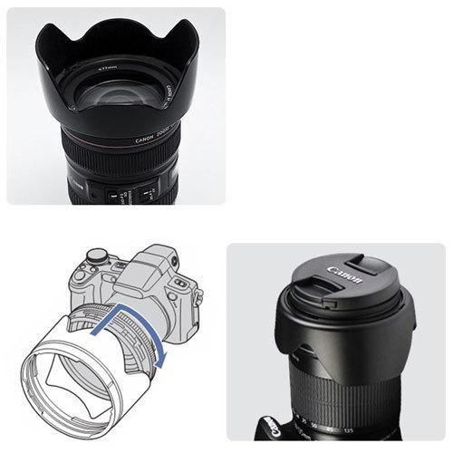 Canon レンズフード EW-73B 互換品 一眼レフ用交換レンズ EF-S17-85mm F4-5.6 IS USM EF-S18-135mm F3.5-5.6 IS STM EF-S18-135mm F3.5-5.6 IS用|asianzakka|05