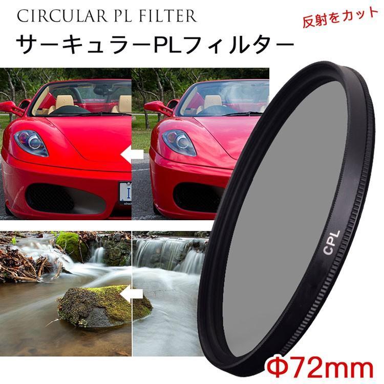 レンズフィルター CPLフィルター 72mm 一眼レフ ミラーレス一眼レフ交換レンズ用 サーキュラーPL asianzakka