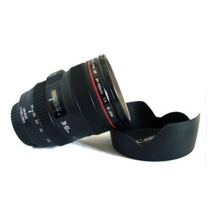 レンズ型カップ Canon 一眼レフ カメラ レンズ風 カップ ステンレスタイプ レンズフード型フタ付き レンズカップ コップ マグカップ アイデアグッズ asianzakka 02