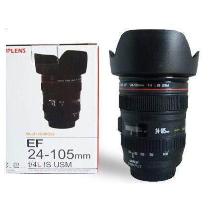 レンズ型カップ Canon 一眼レフ カメラ レンズ風 カップ ステンレスタイプ レンズフード型フタ付き レンズカップ コップ マグカップ アイデアグッズ asianzakka 03