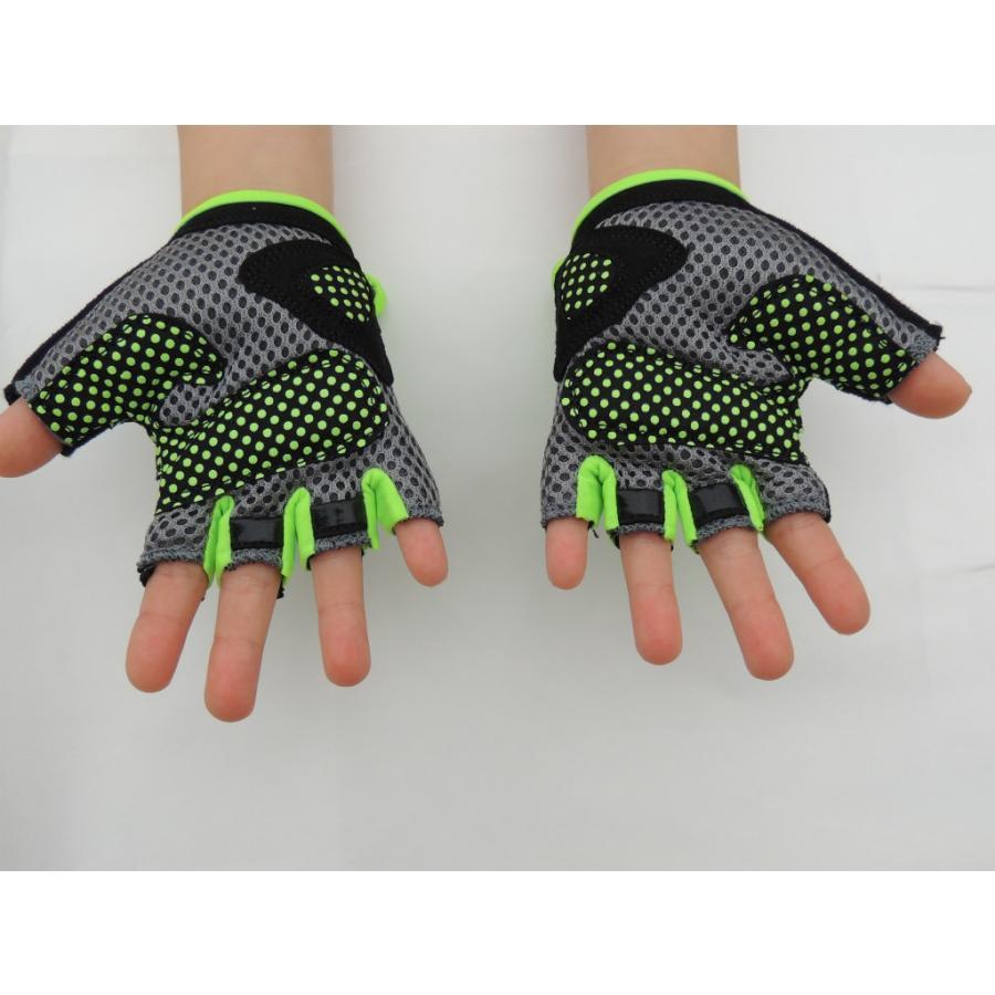 こども用サイクルグローブ ランバイクで使える 男の子 女の子用 夏用指切り自転車用手袋|asiapacifictrading|07