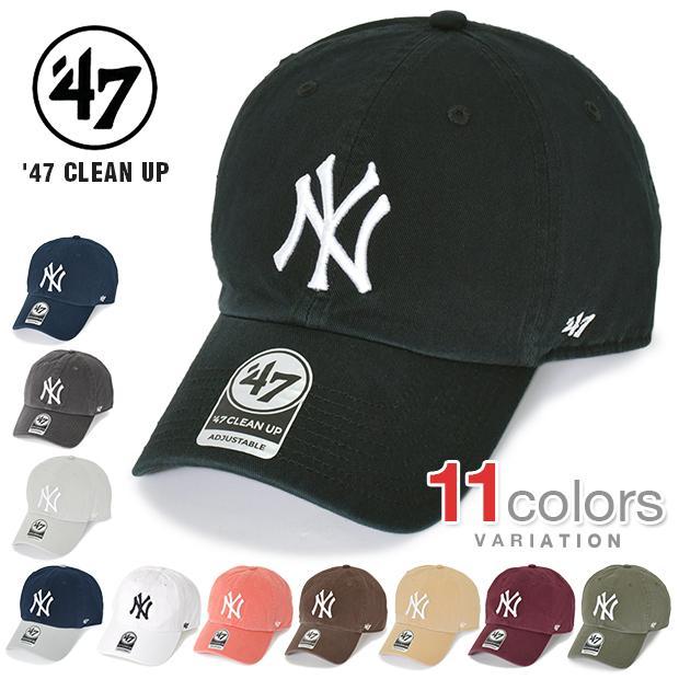 ヤンキース 日本最大級の品揃え キャップ 47 ローキャップ NY 大人気 ニューヨーク レディース クリーンナップ 帽子 ストラップバック メンズ