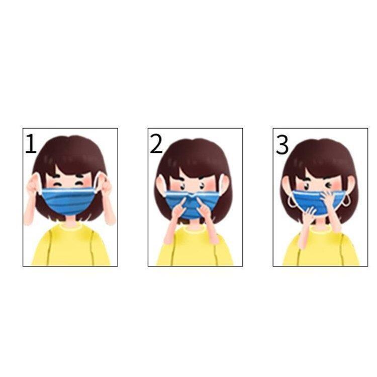 マスク 50枚 子供用 使い捨てマスク 夏用 3層構造 小さめ 可愛い 不織布 ウィルス対策 飛沫防止 花粉対策 動物柄 子供マスク キッズマスク|asmart|05