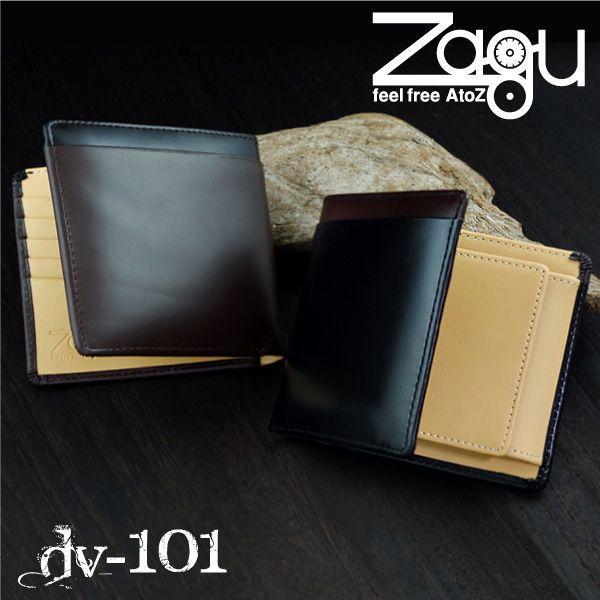 549487a34670 Zagu ザグ ホースレザーウォレット DV-101 二つ折財布 メンズ財布 :dv ...