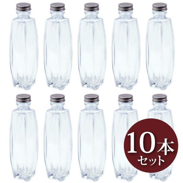 ハーバリウム トノー型ガラス瓶 200cc 10本セット キャップ付 硝子ビン 樽型 透明瓶 花材 ウエディング プリザーブドフラワー インスタ SNS インテ