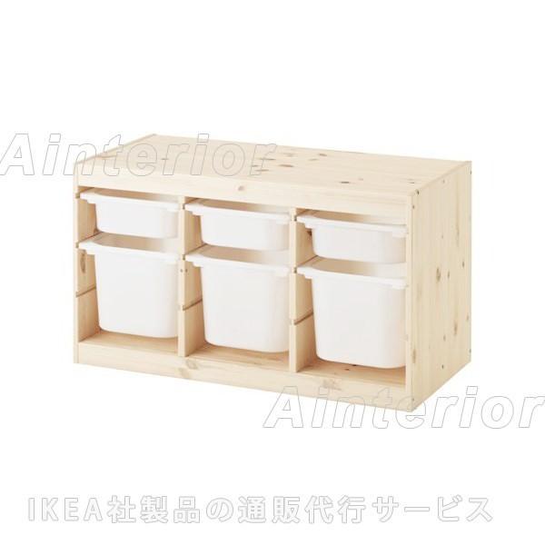 おもちゃ収納 おもちゃ箱 子供収納 IKEA イケア TROFAST トロファスト 収納コンビネーション 292.408.77