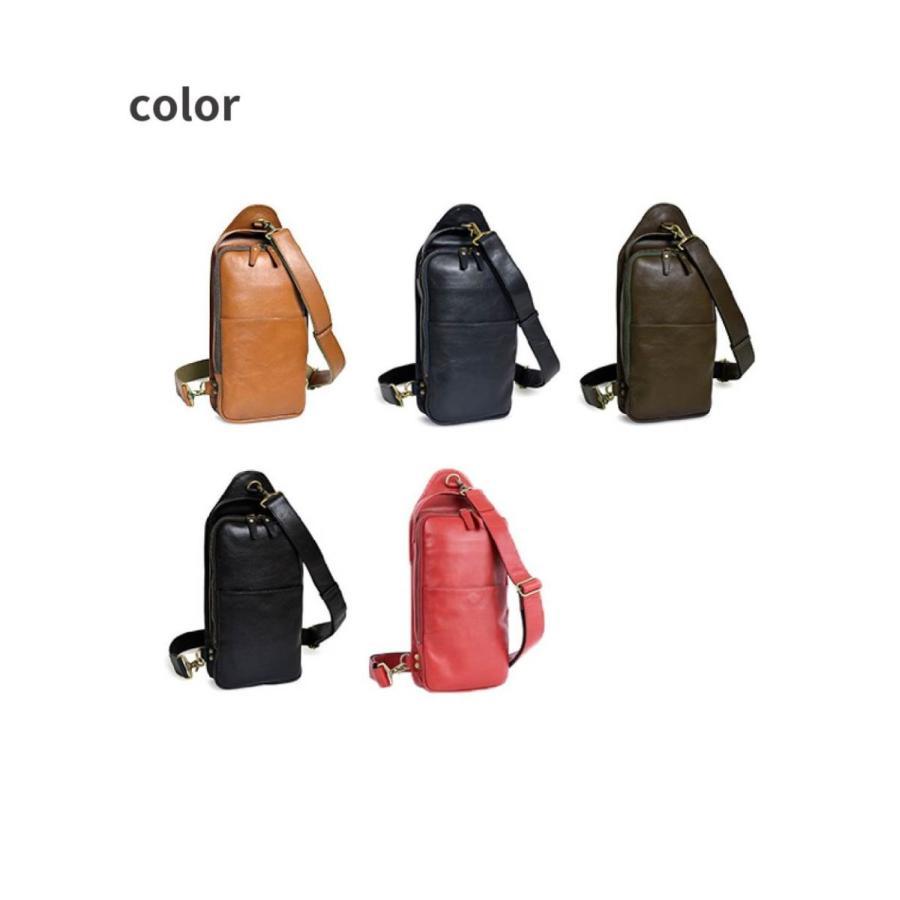 ボディバッグ 革 シンプル 本革 メンズ CH-P123|asoboze|10
