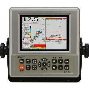 【廃盤】魚探 SONIX ソニック 5.7型カラー液晶高感度魚群探知機 SF-57 TW-05 600w 120KHz
