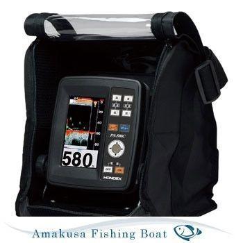 魚探 HONDEX ホンデックス 4.3型ワイドポーダブル魚群探知機 PS-500C TD04A 100W 200KHz バリューセット