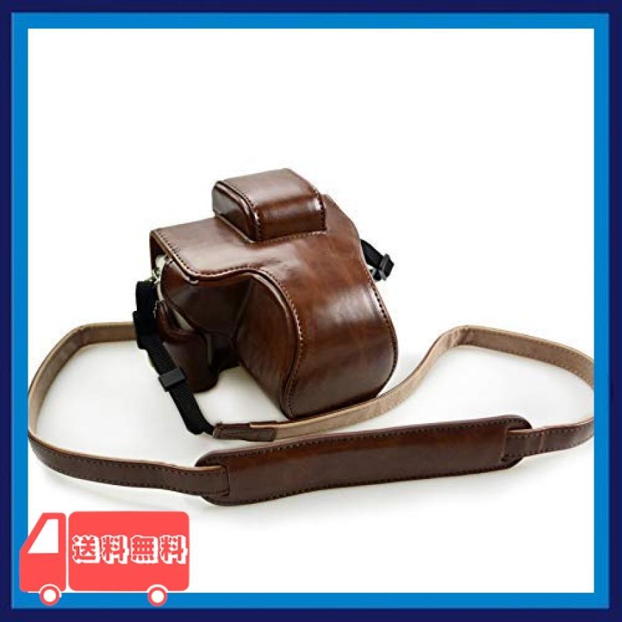 kinokoo Canon EOS Kiss M/EOS Kiss M2/EOS M50/EOS M50 Mark 2 専用カメラケース カメラバッグ 15-45 mm レンズ 対応 バッテリーの|asotosi55