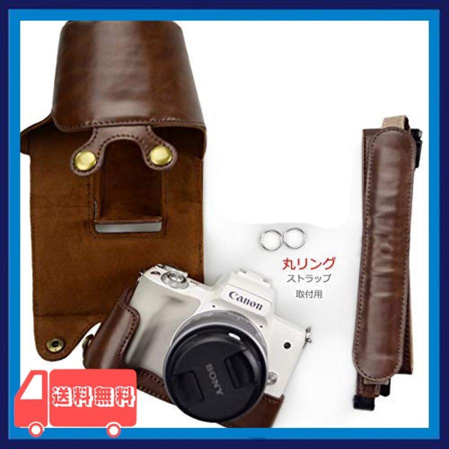 kinokoo Canon EOS Kiss M/EOS Kiss M2/EOS M50/EOS M50 Mark 2 専用カメラケース カメラバッグ 15-45 mm レンズ 対応 バッテリーの|asotosi55|07