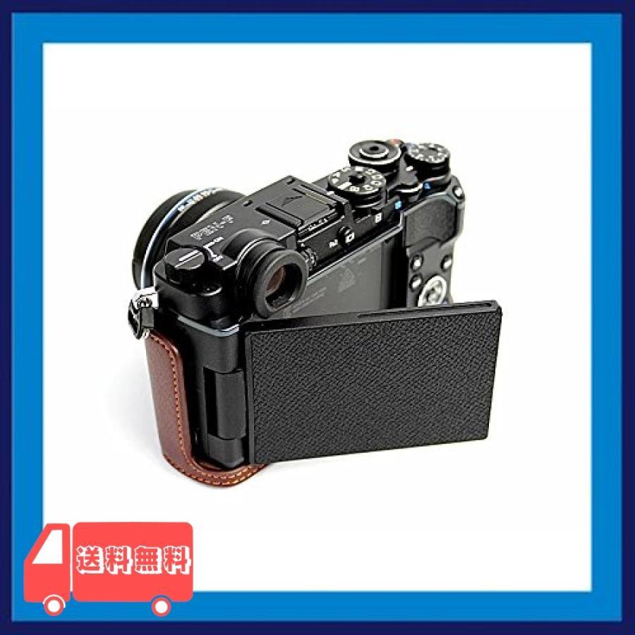 Olympus オリンパス PEN PEN-F PENF PEN F カメラ バッグ カメラ ケース 本革、Koowl手作りトップクラスの牛革カメラハー|asotosi55|02
