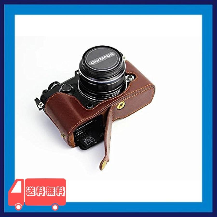 Olympus オリンパス PEN PEN-F PENF PEN F カメラ バッグ カメラ ケース 本革、Koowl手作りトップクラスの牛革カメラハー|asotosi55|03