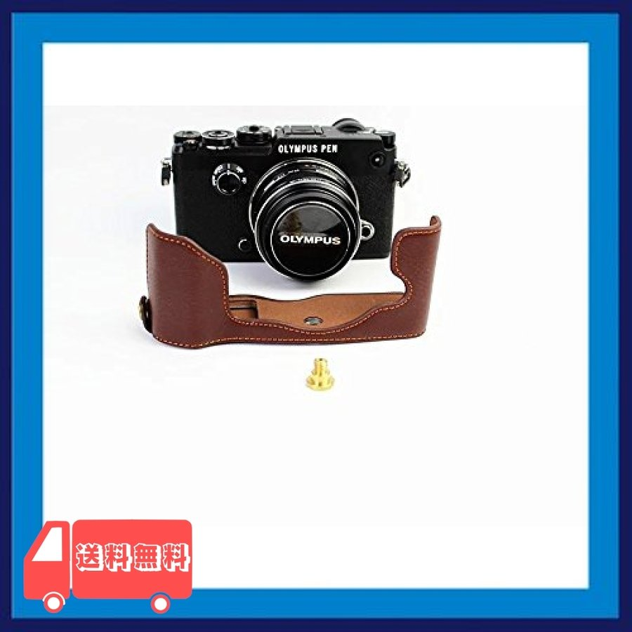 Olympus オリンパス PEN PEN-F PENF PEN F カメラ バッグ カメラ ケース 本革、Koowl手作りトップクラスの牛革カメラハー|asotosi55|04