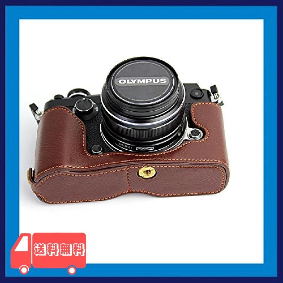 Olympus オリンパス PEN PEN-F PENF PEN F カメラ バッグ カメラ ケース 本革、Koowl手作りトップクラスの牛革カメラハー|asotosi55|06