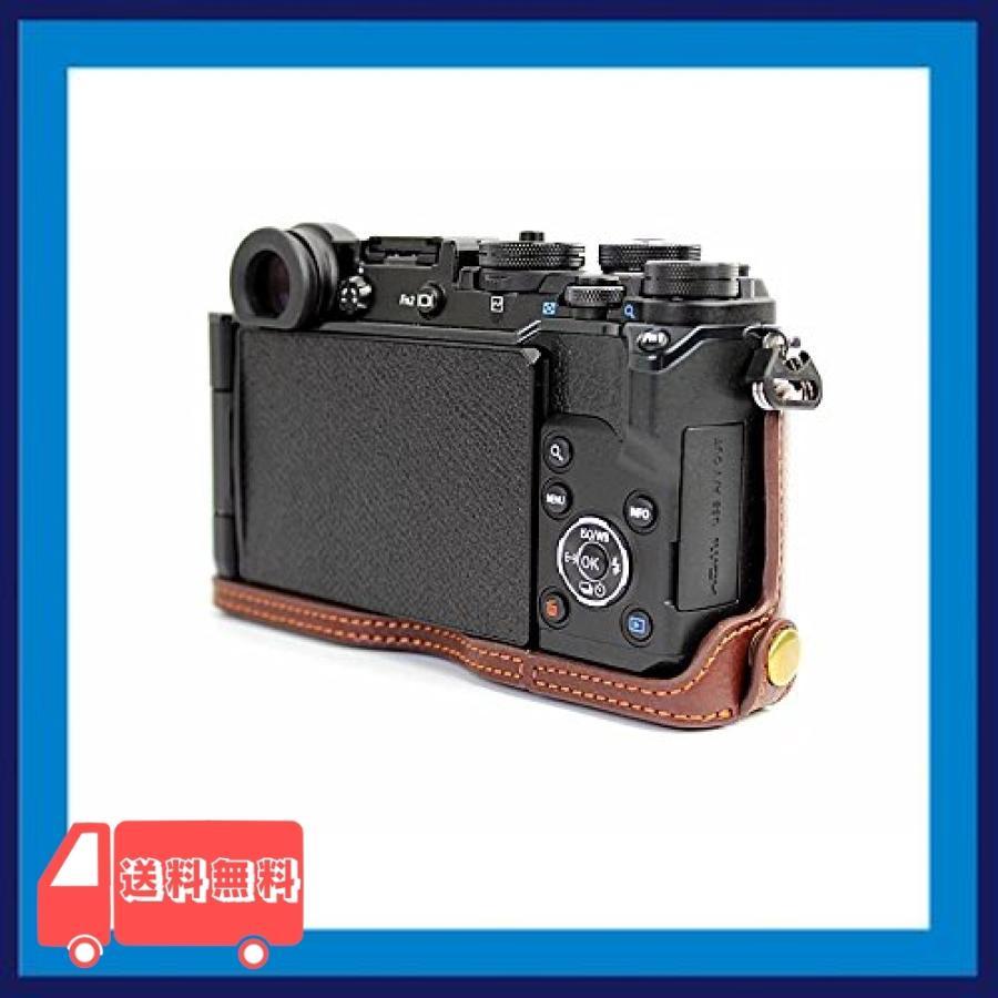 Olympus オリンパス PEN PEN-F PENF PEN F カメラ バッグ カメラ ケース 本革、Koowl手作りトップクラスの牛革カメラハー|asotosi55|07