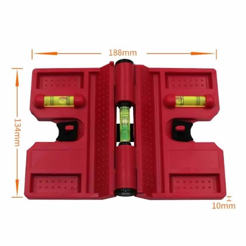 垂直水平器ポスト&パイプレベル大工道具 測定具 アルミゴム磁石付鉛直出し用水平器POSTREBE|aspace|02