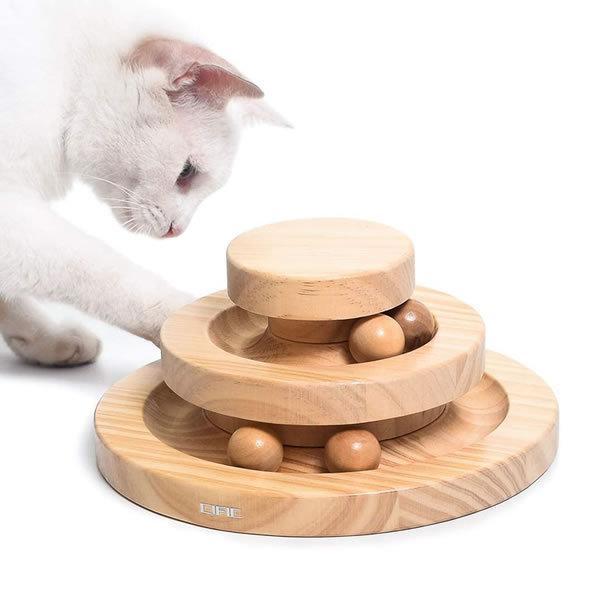 猫 ぐるぐるタワー トレンド ボール 回転 玉遊び 大興奮 運動 おもちゃ GURUGURUS キャット 新作 大人気 ペット
