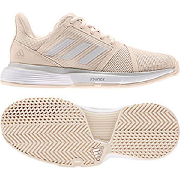 [adidas]アディダス レディース テニスシューズ コートジャム バウンス W (G26834) リネン S17/グレーワンF17/ランニングホワイト[取寄商品]