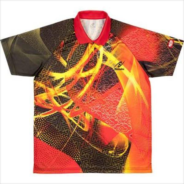 【1枚までメール便可】 [Nittaku]ニッタク ゲームシャツ(ジュニアから大人まで) クラウダーシャツ (NW-2177)(20) レッド