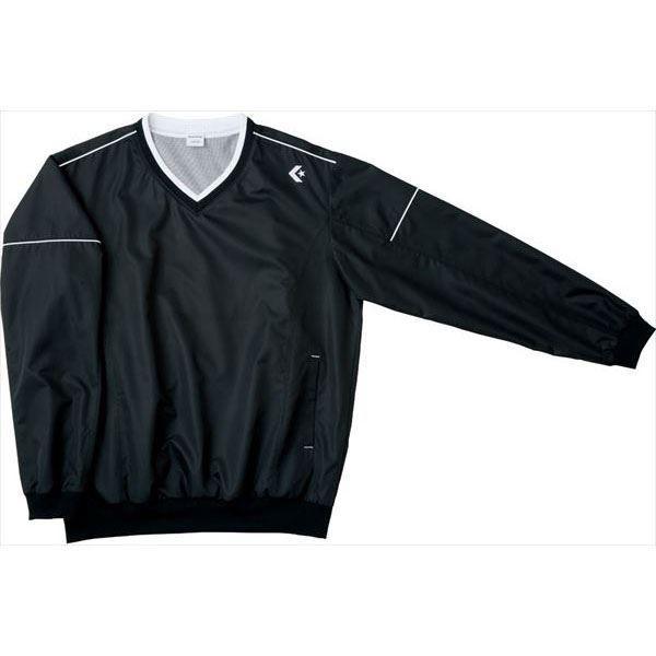 [CONVERSE]コンバース Vネックウォームアップジャケット (CB162510S)(1900) ブラック[取寄商品]