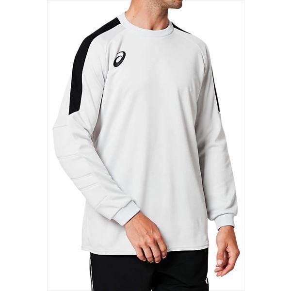 [asics]アシックス サッカーキーパーウェア GKゲームシャツ (2101A039)(020) ソフトグレー[取寄商品]