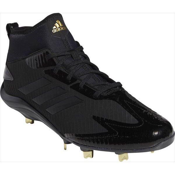 [adidas]アディダス ベースボール金具スパイク アディゼロ スタビル PRO Mid (B76023) コアブラック/コアブラック/カーボン S18[取寄商品]