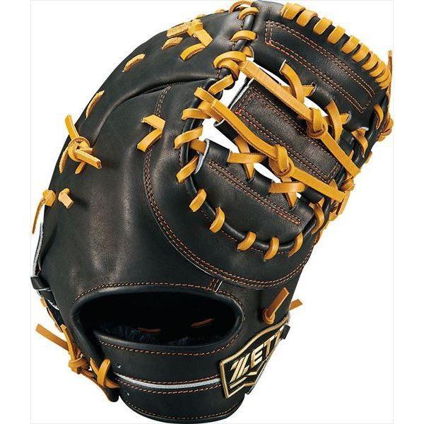 [ZETT]ゼット野球 ジュニア軟式野球 一塁手用ミット ネオステイタス (BJFB70913)(1936) ブラック/オ-クB[取寄商品]