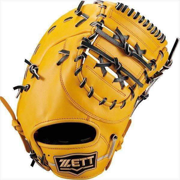 [ZETT]ゼット野球 軟式一塁手用ミット ウイニングロード (BRFB33913)(5419) Tイエロー/ブラック[取寄商品]