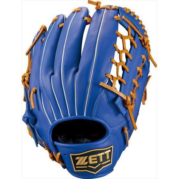 [ZETT]ゼット野球 軟式オールラウンド用グラブ デュアルキャッチ (BRGB34940)(2536) Rブルー/オークB[取寄商品]