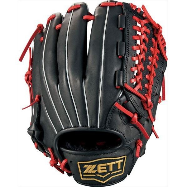 [ZETT]ゼット野球 ソフトボール用オールラウンドグラブ デュアルキャッチ (BSGB53920)(1964) ブラツク/レツド[取寄商品]