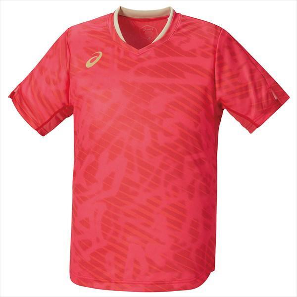 【1点までメール便可】 [asics]アシックス 男女兼用卓球ゲームシャツ クールゲームシャツ (2073A016)(600) スピードレッド