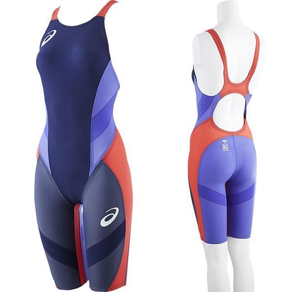 [asics]アシックス TI ウィメンズスパッツ レディース 競泳用水着 FINA承認 (ASL502)(5144)ダークネイビーコバルトブルー