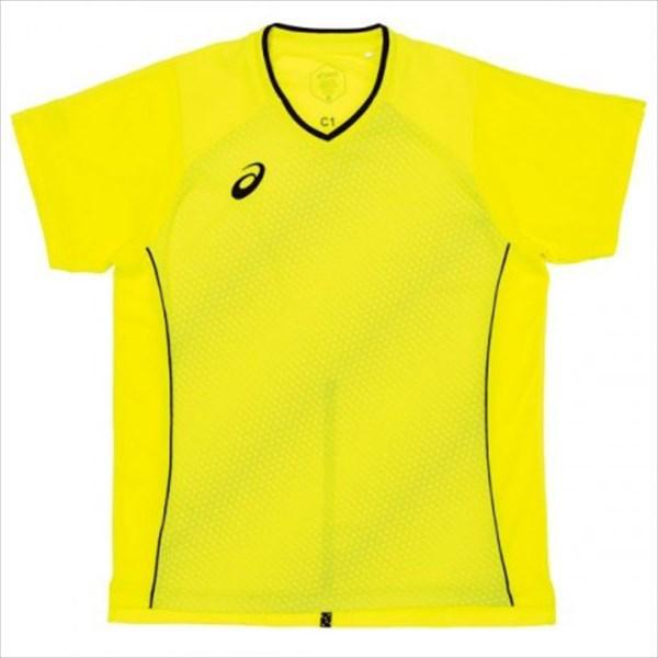 1点までメール便可 セール 注目ブランド 登場から人気沸騰 asics アシックス 卓球ゲームシャツ ジュニアから大人まで フラッシュイエロー 86 XK1064 クールゲームシャツ