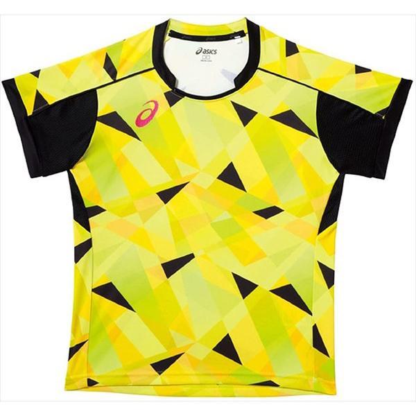 1点までメール便可 asics アシックス レディース卓球ゲームシャツHS 04 SEAL限定商品 イエロー 品質保証 XK2014