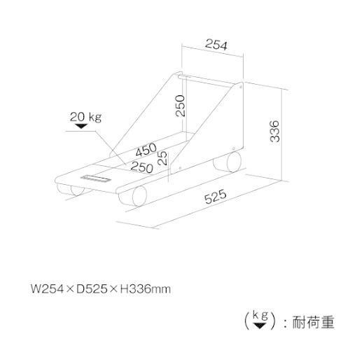 ナカバヤシ CPUワゴン ミニタワー対応 ホワイトグレー RXN-104|assign-1|03