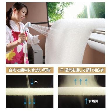 水洗いできる高反発マットレス 日本製 腰痛対策  E-COREベッドタイプ(三つ折)【ダブル厚さ15cm】|assist-2019|02