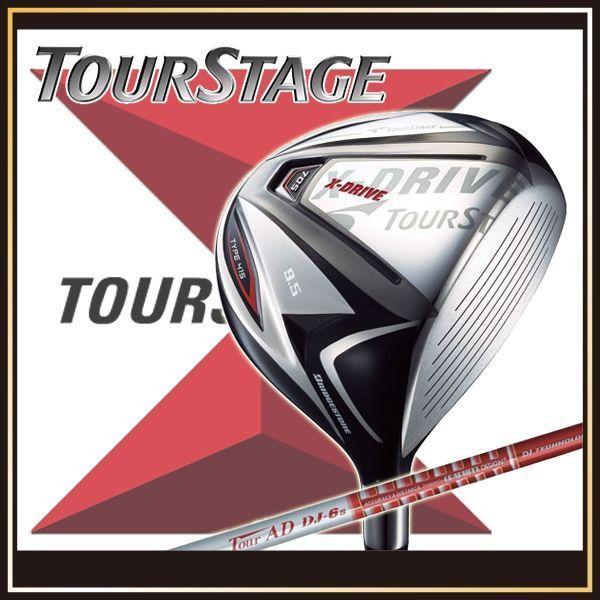 ブリヂストン ツアーステージ ドライバー X-DRIVE 705 TYPE415 Tour AD DJ-6シャフト カーボンシャフト TOURSTAGE