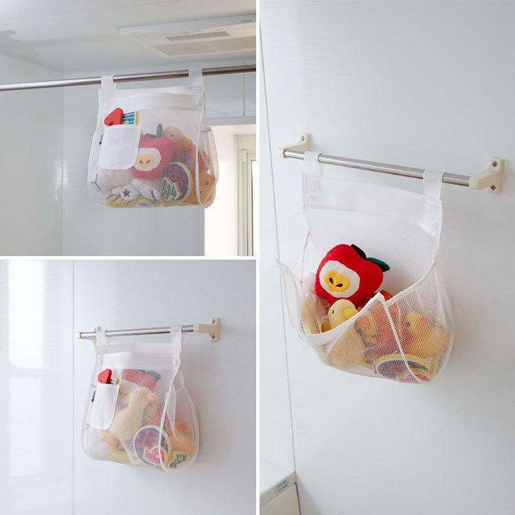(ゆうパケット) お風呂おもちゃ袋 スクエア ホワイト(3367) 山崎実業 assistone 02