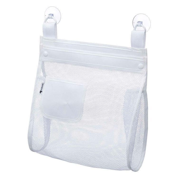 (ゆうパケット) お風呂おもちゃ袋 スクエア ホワイト(3367) 山崎実業 assistone 05