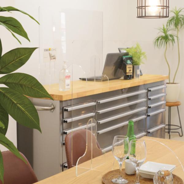 飛沫防止 アクリルパーテーション 透明  パーティション 間切り オフィスパーテーション 受付 AC-505CL / 東谷 astas-shop 12