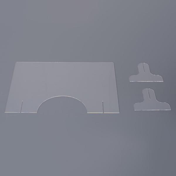 飛沫防止 アクリルパーテーション 透明  パーティション 間切り オフィスパーテーション 受付 AC-505CL / 東谷 astas-shop 03