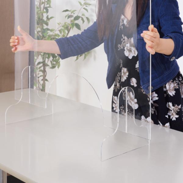 飛沫防止 アクリルパーテーション 透明  パーティション 間切り オフィスパーテーション 受付 AC-505CL / 東谷 astas-shop 05