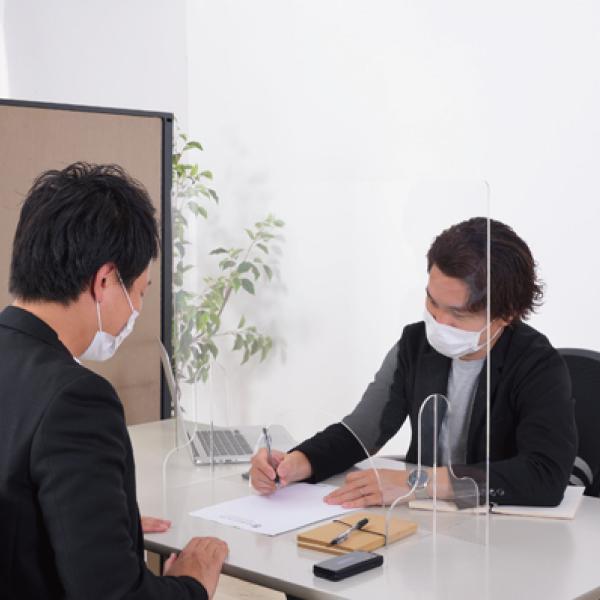 飛沫防止 アクリルパーテーション 透明  パーティション 間切り オフィスパーテーション 受付 AC-505CL / 東谷 astas-shop 07