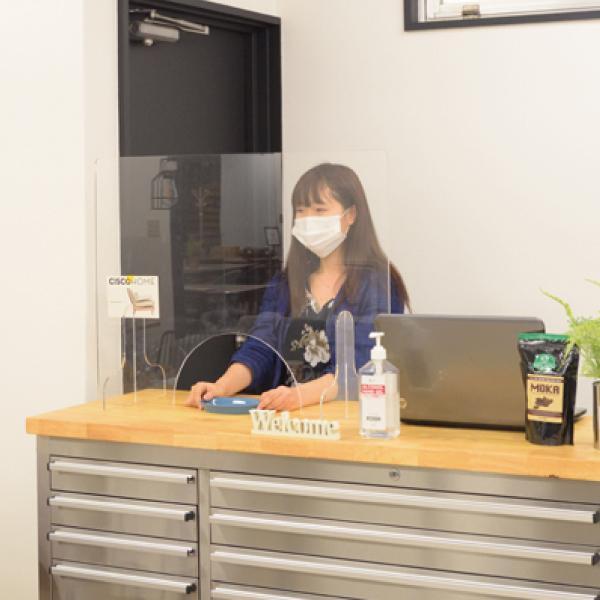 飛沫防止 アクリルパーテーション 透明  パーティション 間切り オフィスパーテーション 受付 AC-505CL / 東谷 astas-shop 08