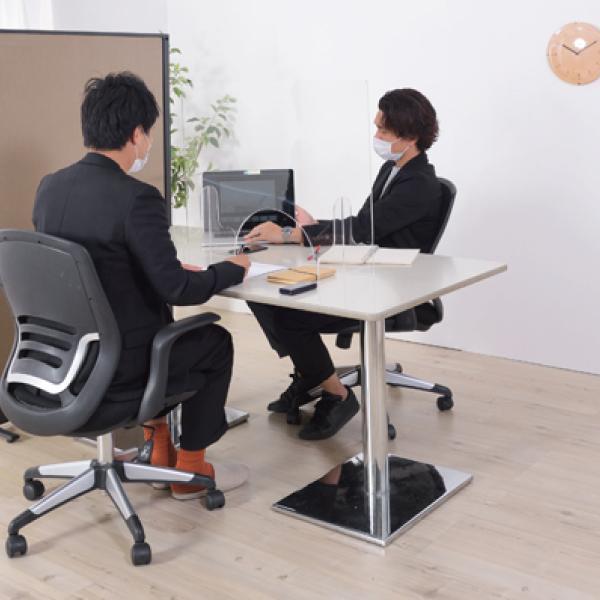 飛沫防止 アクリルパーテーション 透明  パーティション 間切り オフィスパーテーション 受付 AC-505CL / 東谷 astas-shop 10
