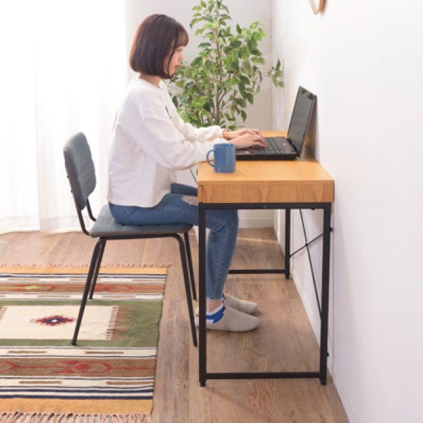 デスク テーブル 机 ナチュラル 木目 おしゃれ 北欧 パソコンデスク ユニットデスク 引き出し付 END-331NA / 東谷|astas-shop|15
