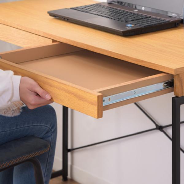 デスク テーブル 机 ナチュラル 木目 おしゃれ 北欧 パソコンデスク ユニットデスク 引き出し付 END-331NA / 東谷|astas-shop|16