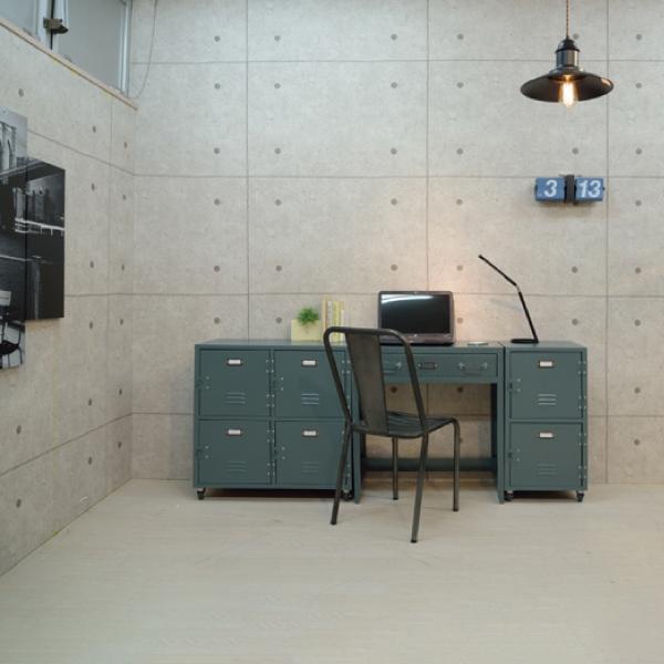デスク 机 Rald グレー おしゃれ 北欧 収納 インテリア TPN-32GR / 東谷|astas-shop|09